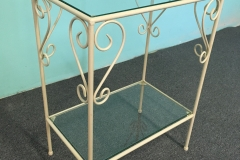 French Side Table Casted - Glass