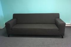Large 3 Person Sofa Black