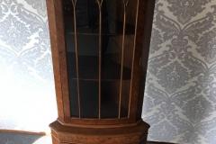Large Cherry Wood Corner Cabinet